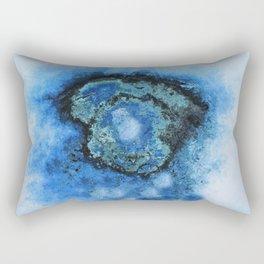 Abstract texture arctic blue Rectangular Pillow