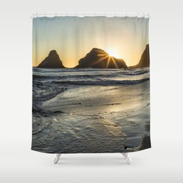 Waiting for the Sunset Shower Curtain