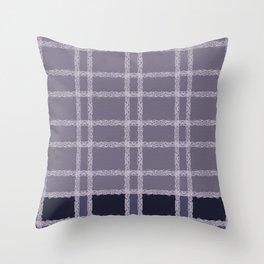 Lilac Indigo Lace Throw Pillow
