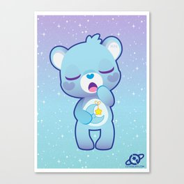 Bedtime bear Canvas Print