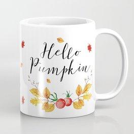 Orange Pumpkin Cat // Fall Decor Coffee Mug