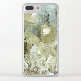chrysocolla & calcite Clear iPhone Case