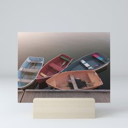 Four Skiffs Mini Art Print