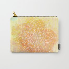 Watercolor Mandala // Sunny Floral Mandala Carry-All Pouch