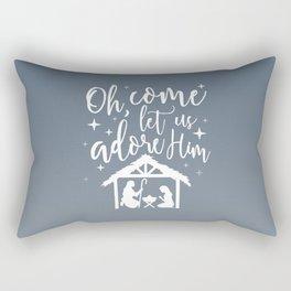 Let Us Adore Him Rectangular Pillow