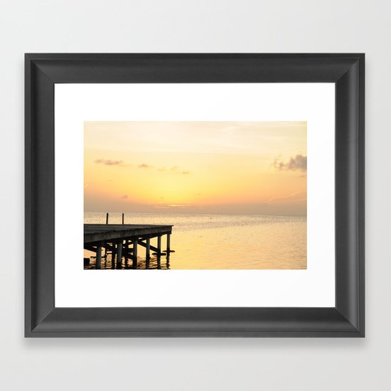 Sunset's in Belize Framed Art Print