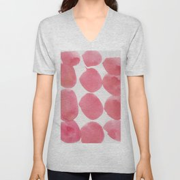 17     | 190408 Red Abstract Watercolour Unisex V-Neck