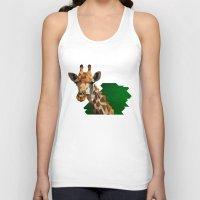 giraffe Tank Tops featuring giraffe by gazonula