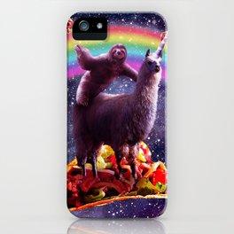 Sloth Riding Llama iPhone Case