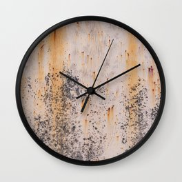 Abstract textures in old metal Wall Clock