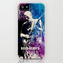 DAVID GILMOUR on dictionary iPhone Case
