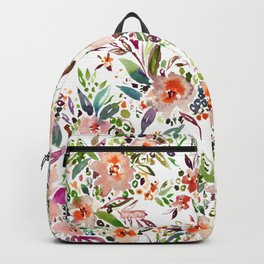 INCOGNITO INTROVERT Tropical Colorful Floral Backpack