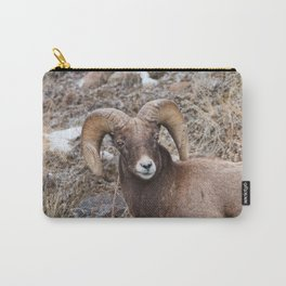 Bighorn sheep closeup in Yellowstone National Park Carry-All Pouch