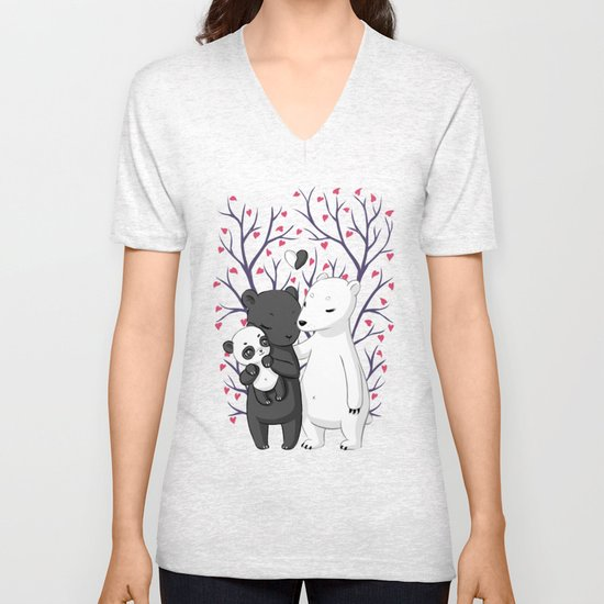 Bear Family Unisex V-Neck