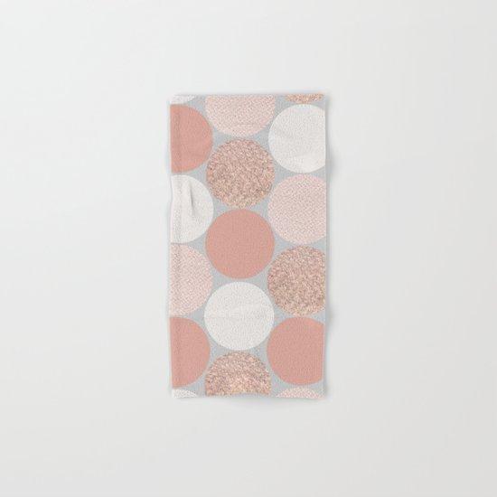 Rose Gold Dots Hand & Bath Towel