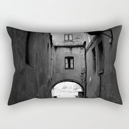 Vintage old black and white street Rectangular Pillow