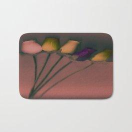 Plastic Flowers Bath Mat