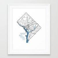 washington dc Framed Art Prints featuring Washington, DC by linnydrez