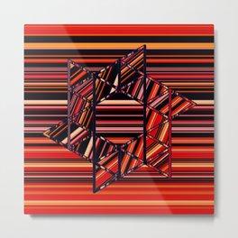 Star on Stripes Metal Print