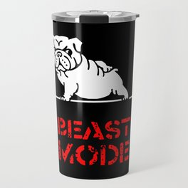 Beast Mode English Bulldog Travel Mug
