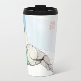 Reclining Nude Rear View Travel Mug