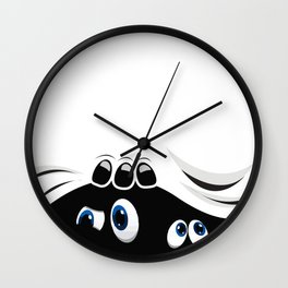 Peeping Wall Clock