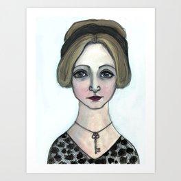 "Anais Nin Literary Portrait, ""Winter of Anais"" Art Print"