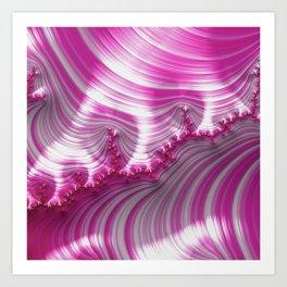 Fractal Art-Pink Striped Candy Art Print