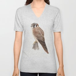 Falcon Watercolor Painting  Unisex V-Neck