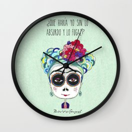 Frida by Patricia Fornos Wall Clock