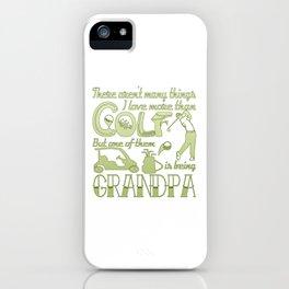 Golf Grandpa iPhone Case