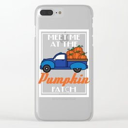 The Cool and Awesome Halloween costume party idea Truck loaded with pumpkins Meet me at the Pumpkin. Clear iPhone Case
