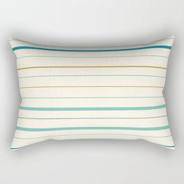 Horizontal stripes pattern - blue on cream Rectangular Pillow