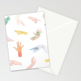 Watercolor Hands Pattern Stationery Cards