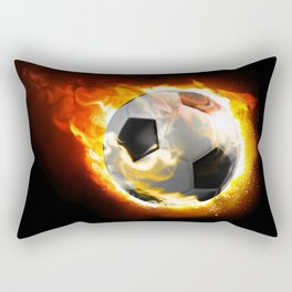 Soccer Fire Ball Rectangular Pillow