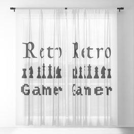 Retro Gamer Sheer Curtain