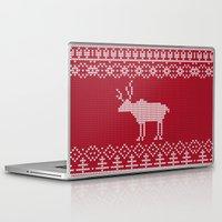 reindeer Laptop & iPad Skins featuring  Reindeer by Julia Badeeva