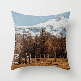 Mountain from the base of the thundering hill Throw Pillow