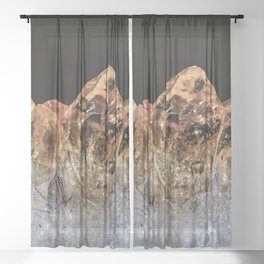 Fire and Ice Citrine crystals Sheer Curtain