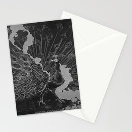 retro classic Peacock poster Stationery Cards