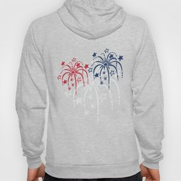Red White and Blue (dark) Fireworks Hoody