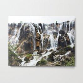 Pearl Shoal Waterwall // Jiuzhaigou Valley Metal Print