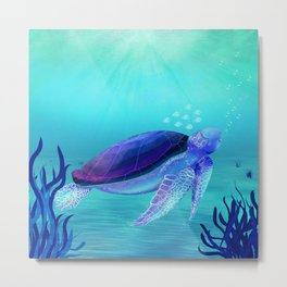 Underwater friends Metal Print