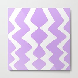 Purple Zig-Zag Design Metal Print