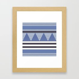 Patchy Stormy Blues Framed Art Print