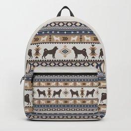 Boho dogs   Elkhound/Jämthund tan Backpack