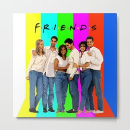Friends TV Metal Print