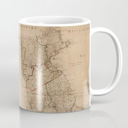 Vintage Map of Massachsuetts (1795) Coffee Mug