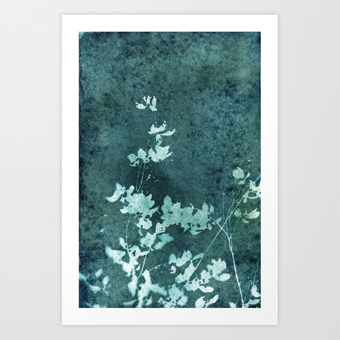 Weathered Floral Art Print