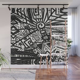 Black and White Maze Wall Mural